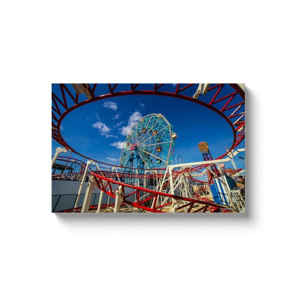 """Wonder Wheel Twirl"" Canvas Wraps"