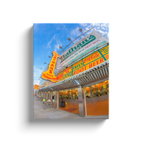 """Nathan's at Coney Island"" Canvas Wraps"