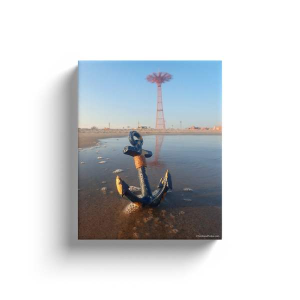 """Coney Island Parachute Jump & Anchor"" Canvas Wraps"