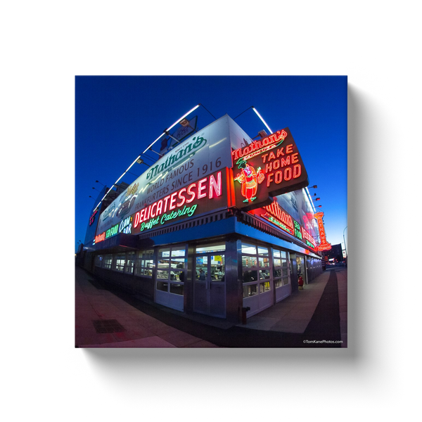"""Nathan's at Night"" Canvas Wraps"