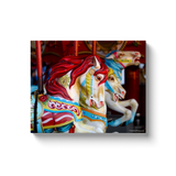 """Deno's Carousel, Coney Island"" Canvas Wraps"