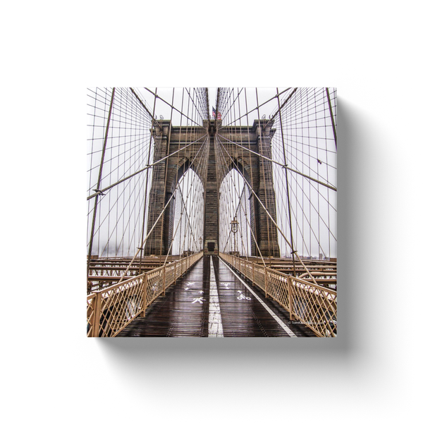 """Brooklyn Bridge in the Rain"" Canvas Wraps"