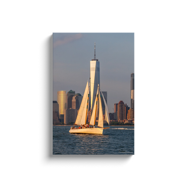 """Sailing Freedom Tower"" Canvas Wraps"