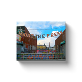 """Shoot the Freak, Coney Island"" Canvas Wraps"