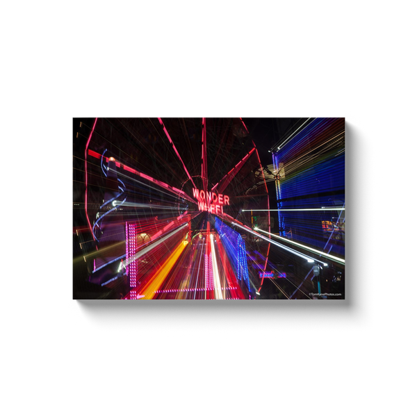 """Wonder Wheel Streaks"" Canvas Wraps"