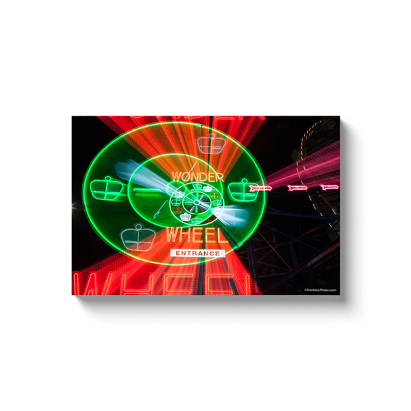 """Wonder Wheel Entrance Streaks"" Canvas Wraps"