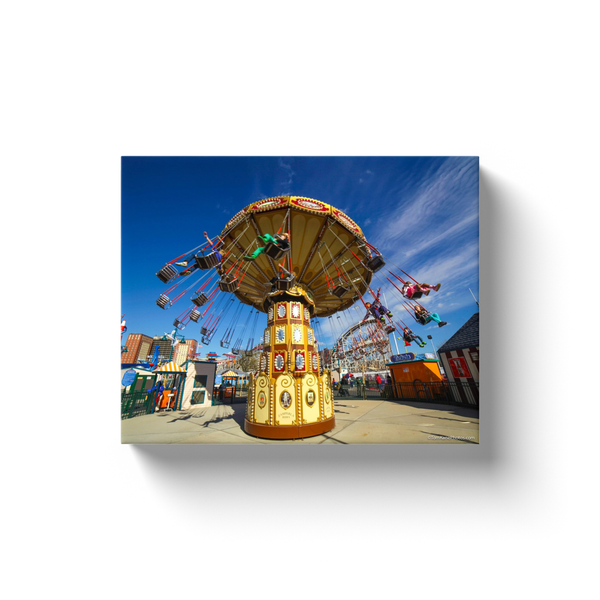 """Lynn's Trapeze, Coney Island"" Canvas Wraps"