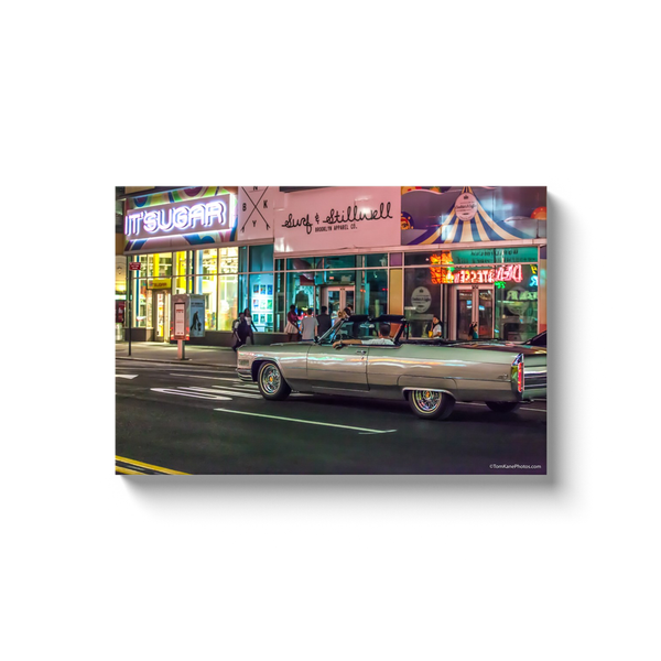 """Cruising Surf & Stillwell Ave, Coney Island"" Canvas Wraps"