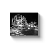 """Cyclone at Night, Coney Island"" Canvas Wraps"