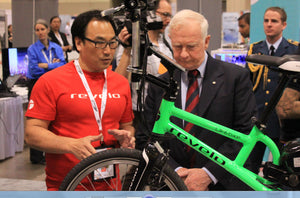 Henry Chong Presenting the Revelo Electric Bike Canadian Innovation to Governor General of Canada David Johnston