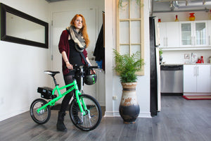 Revelo a revolution in urban transportation with electric bike design for small space living