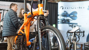 Revelo folding bike at 2019 Toronto International Bike Show