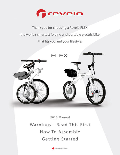 Revelo FLEX folding electric bike manual