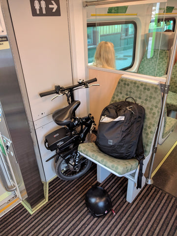 Commuting with Revelo FLEX on GO train