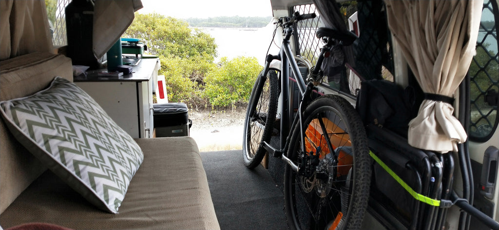 Commuter bike van living Australia with THINstem
