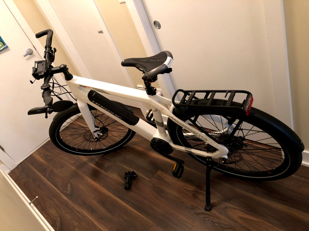 Haibike Urban Plus in condo hallway