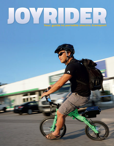 Toronto, Canada Revelo FLEX e-bike featured in Joyrider, the guide to portable electric transport