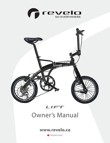Revelo LIFT performance folding bike manual