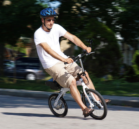 Test ride the Revelo FLEX, the world's fastest, most portable, chainless folding electric bike, designed in Canada