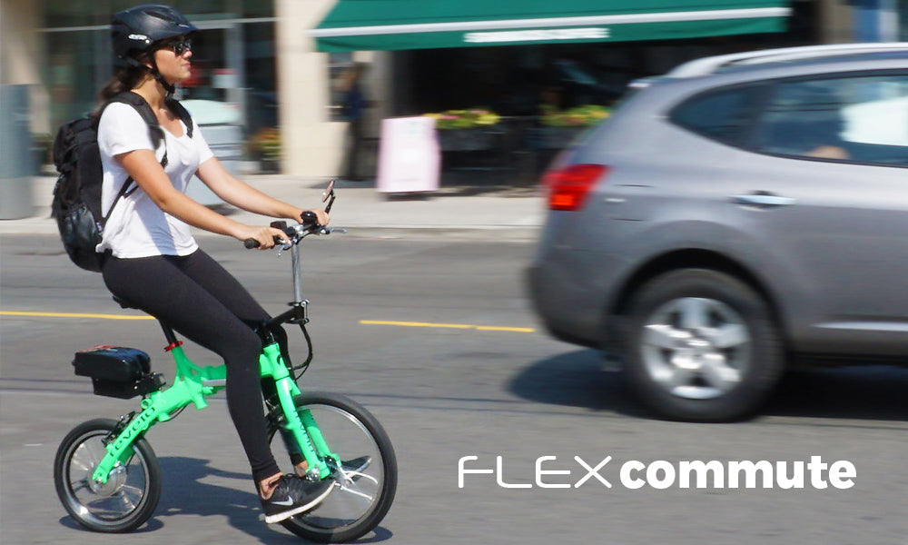 Revelo FLEX folding electric bike provides a comfortable, safe upright riding position