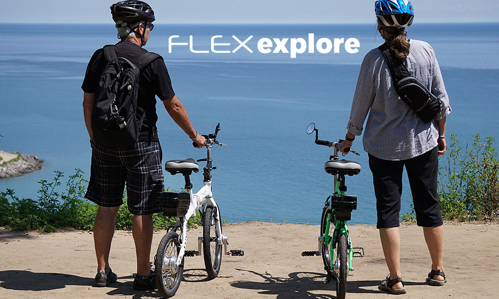Revelo FLEX folding electric bike explore the shore