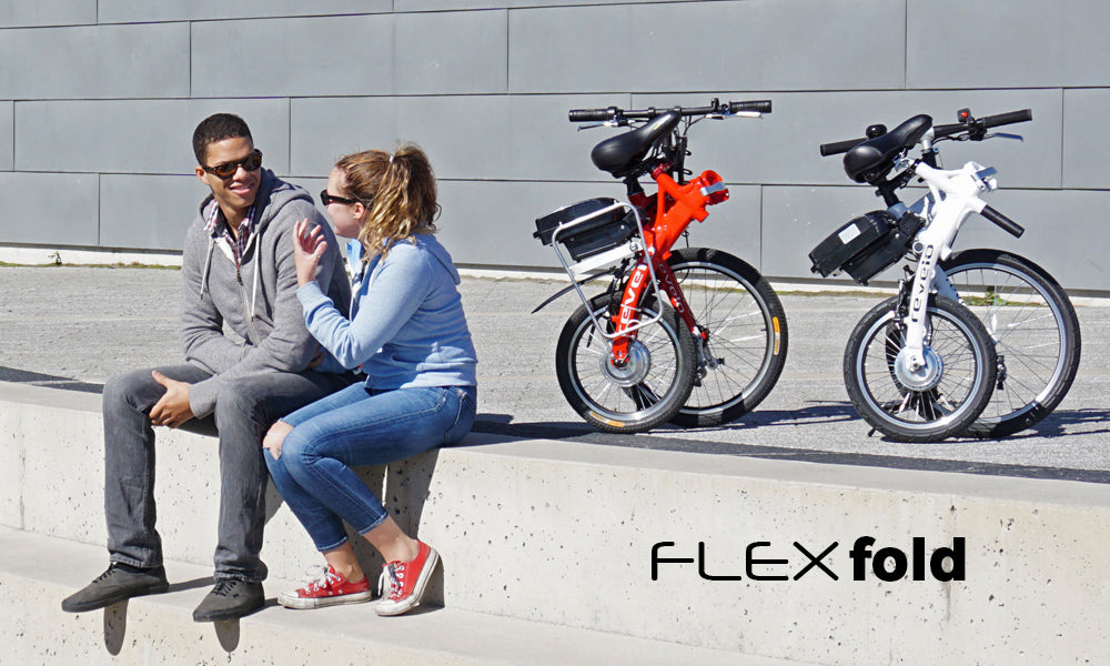 Revelo FLEX folding electric bike, fun, freedom and love