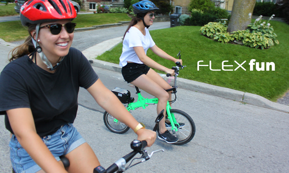 Revelo FLEX folding electric bike fun and easy to ride