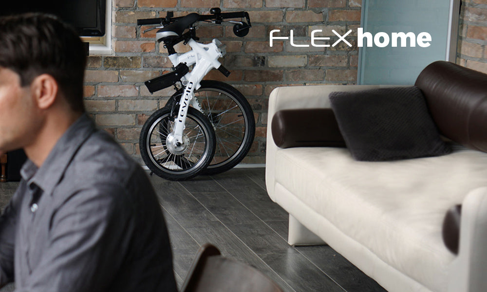 Revelo FLEX folding electric bike, the perfect companion for small space living