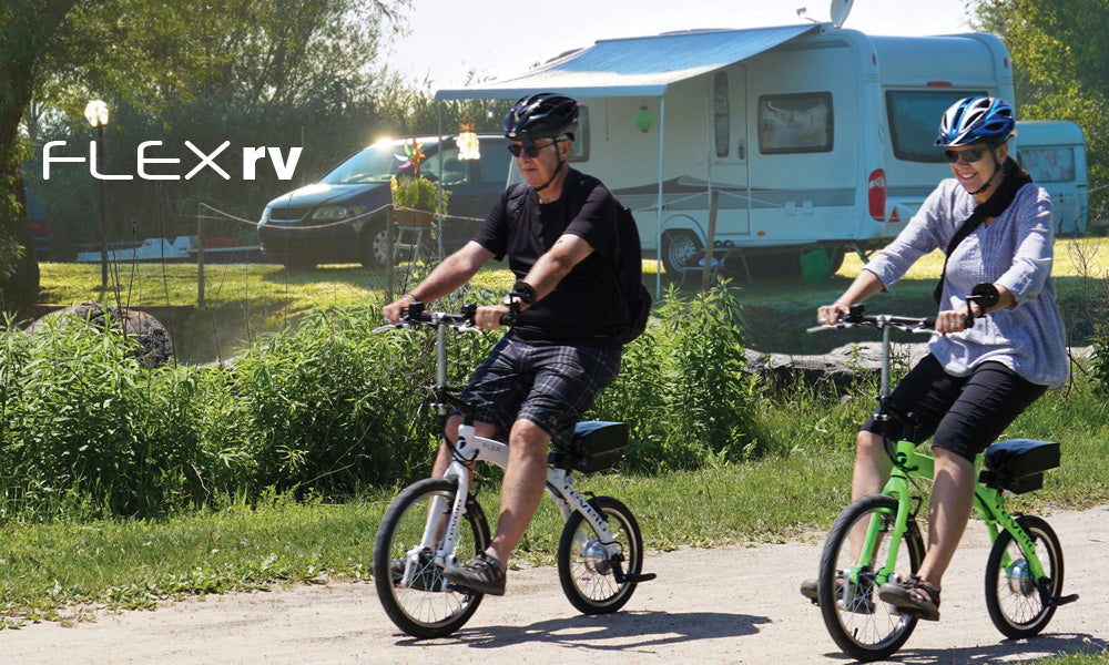 Revelo FLEX portable, folding electric bike ideal for rv travel