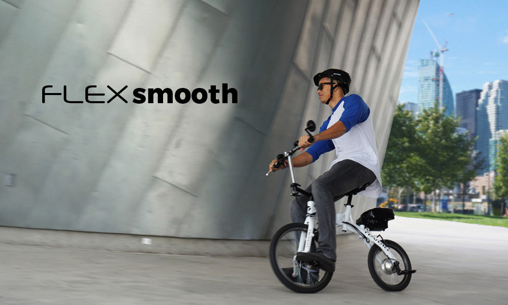Revelo FLEX folding electric bike smooth riding
