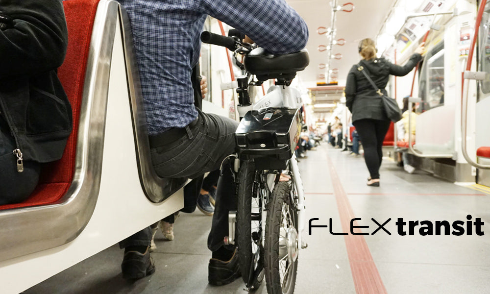 Revelo FLEX ebike folds smaller than a baby carriage for easy transport