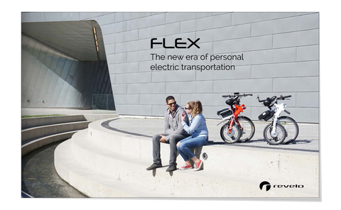 Revelo FLEX electric bike brochure, designed in Toronto