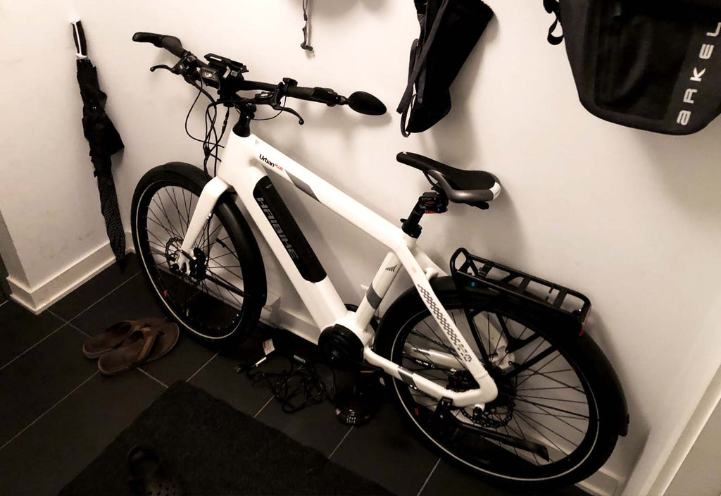 Haibike Urban Plus with Revelo THINstem in condo