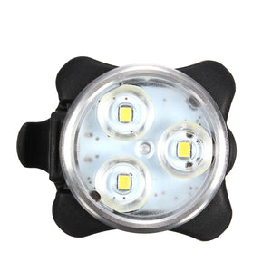 Triple LED USB Bike Headlight