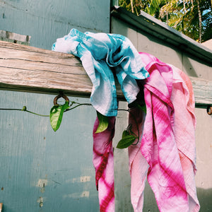 Hand Dyed Cotton Towels