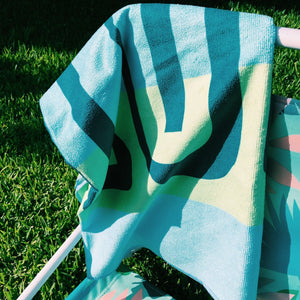 Microfiber Towel - Blue/Green
