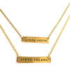 Hand-Stamped DOUBLE Nameplate Necklace