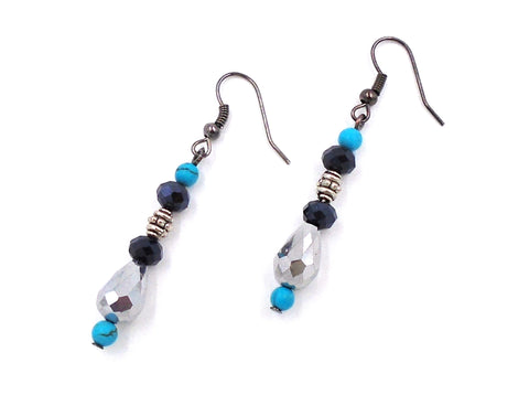 Howlite Hanging Earrings