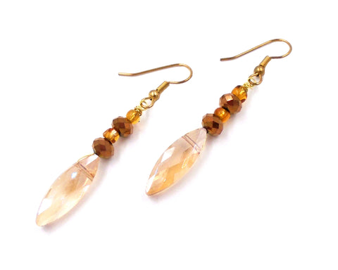 Champagne Crystal Drop Earrings