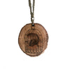 Wood-Burned Birdcage Necklace