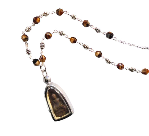 Small Burmese Buddha Pendant Necklace