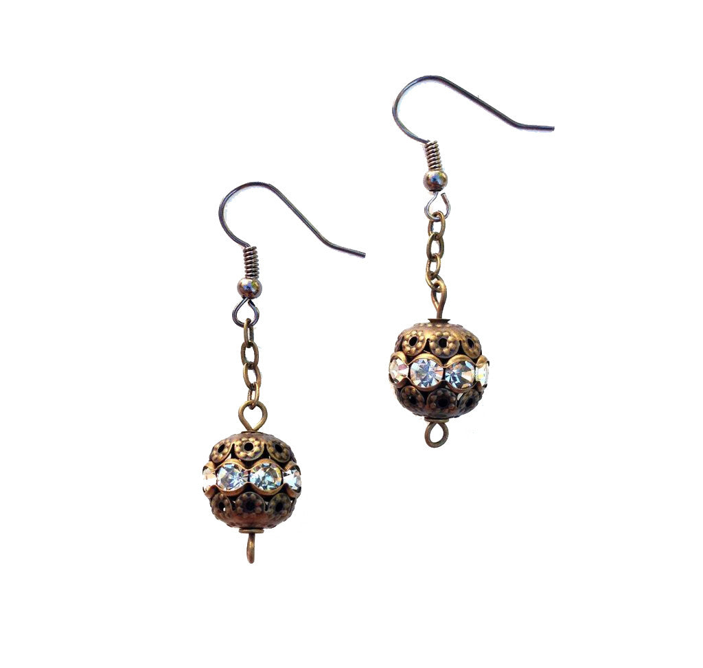 "Vintage ""Ball Drop"" Earrings"