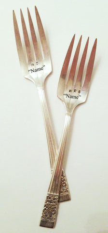 """Mr. & Mrs."" Personalized Forks"