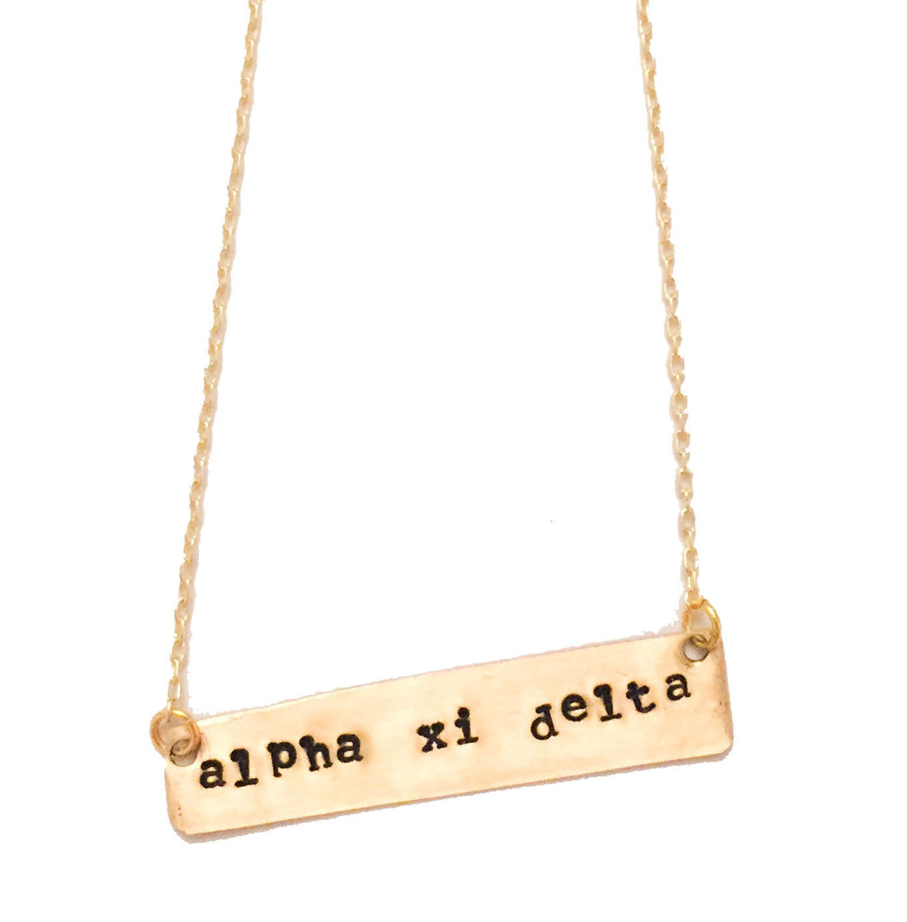 Custom Sorority Bar Necklace