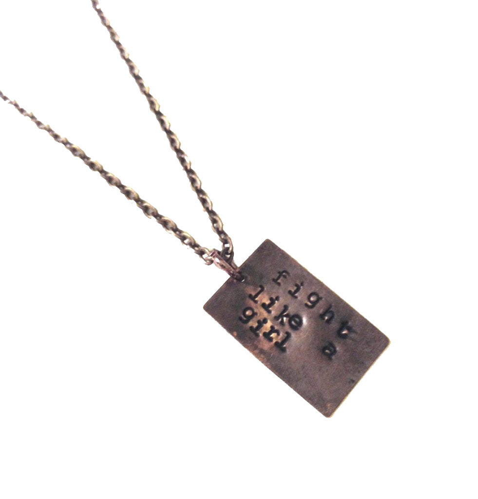 Fight Like A Girl Necklace