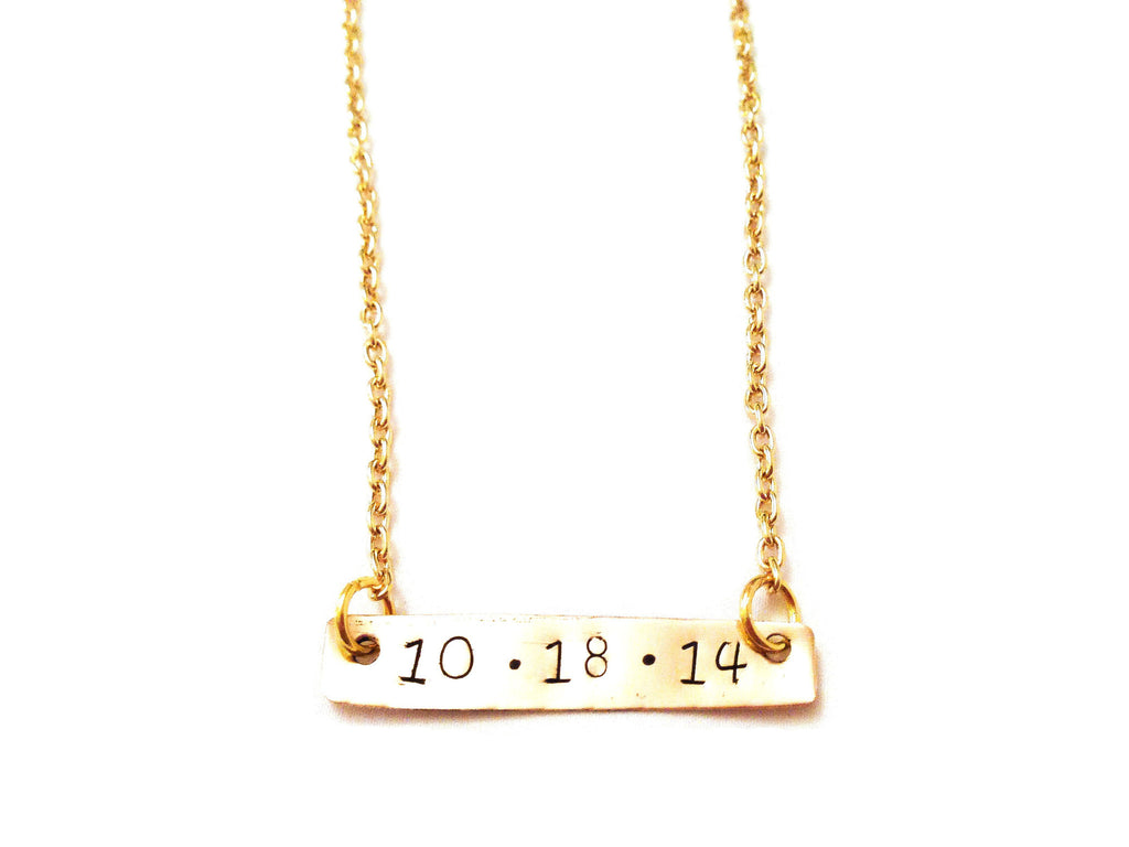 "Custom ""Date"" Bar Necklace"