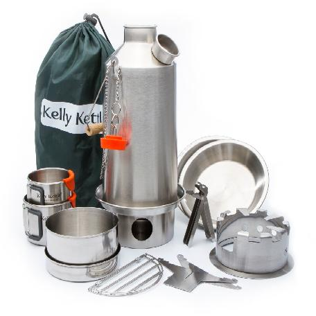 Kelly Kettle Stainless Base Camp Kettle Kit