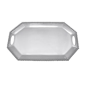 Pearled Long Rectangular Octagon Tray