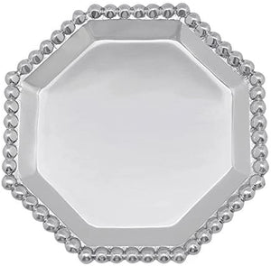 Pearled Octagonal Canapé Plate