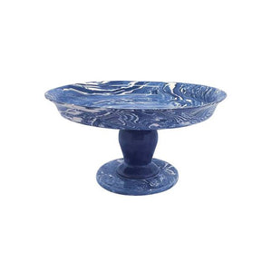 Cobalt Marble Ceramic Medium Cookie Stand